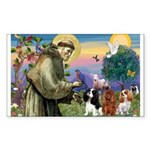 St Francis/Cavalier Trio Rectangle Sticker