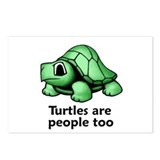 Turtles Are People Too Postcards (Package of 8)