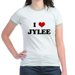 I Love JYLEE Jr. Ringer T-Shirt