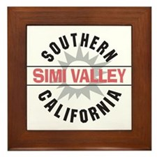 Simi Valley California Framed Tile