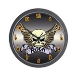 Rock Skull Wall Clock
