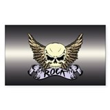 Rock Skull Rectangle Decal