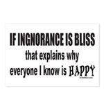 IGNORANCE IS BLISS Postcards (Package of 8)