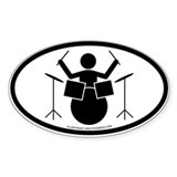 """Drummer"" - Sticker(Oval)"