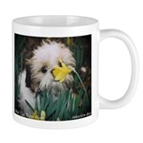 Shih Tzu puppy Loves Flowers, smallMug