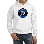 Fire Chief Gold Maltese Cross Hooded Sweatshirt