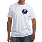 Fire Chief Gold Maltese Cross Fitted T-Shirt