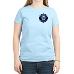 Fire Chief Gold Maltese Cross Women's Light T-Shir
