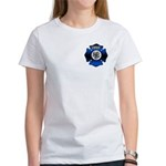 Fire Chief Gold Maltese Cross Women's T-Shirt