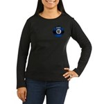 Fire Chief Gold Maltese Cross Women's Long Sleeve
