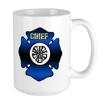 Fire Chief Gold Maltese Cross Large Mug