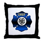 Fire Chief Gold Maltese Cross Throw Pillow
