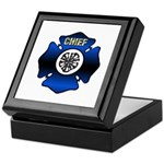 Fire Chief Gold Maltese Cross Keepsake Box