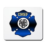 Fire Chief Gold Maltese Cross Mousepad