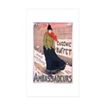 Ambassadeurs Rectangle Sticker 50 pk)
