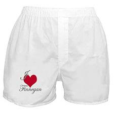I love (heart) Finnegan Boxer Shorts