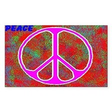 Psychedelic Peace Rectangle Decal