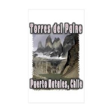 Torres del Paine Rectangle Sticker 10 pk)