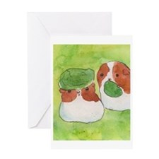 Guinea pigs and lettuce Greeting Card