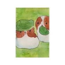 Guinea pigs and lettuce Rectangle Magnet