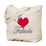 I love (heart) Fabiola Tote Bag