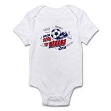 Born to Win Soccer Infant Bodysuit