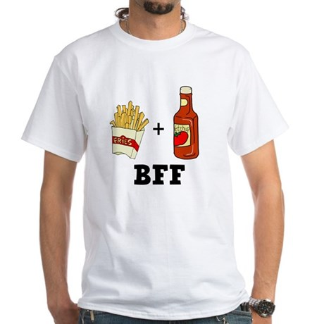 Ketchup & French Fries BFF White T-Shirt