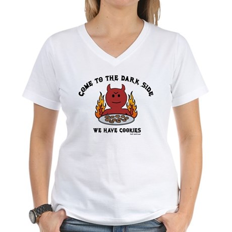 Come to the Dark Side Women's V-Neck T-Shirt