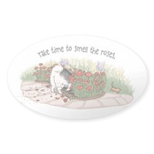 The Fuzz Butt Gardener Oval Sticker (50 pk)