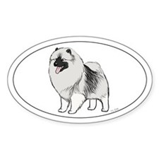 Keeshond Oval Sticker (50 pk)