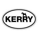 KERRY (Kerry Blue Terrier) Oval Sticker (10 pk)