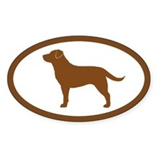 Chocolate Lab Oval Sticker (50 pk)