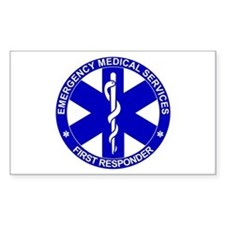 First Responder SOL Rectangle Decal