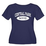 Central Park NYC Women's Plus Size Scoop Neck Dark