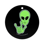 ILY Alien Ornament (Round)