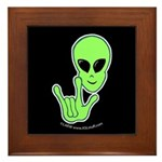 ILY Alien Framed Tile