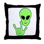 ILY Alien Throw Pillow
