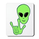 ILY Alien Mousepad