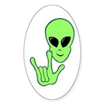 ILY Alien Oval Sticker