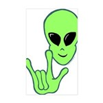 ILY Alien Rectangle Sticker