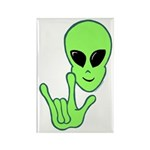 ILY Alien Rectangle Magnet (10 pack)