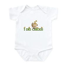 I dig chicks Infant Bodysuit