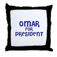 Omar for President Throw Pillow