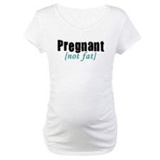 Pregnant (not fat) - Black/Te Shirt