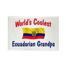 Coolest Ecuadorian Grandpa Rectangle Magnet