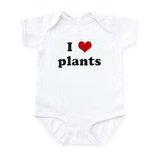 I Love plants Infant Bodysuit