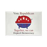 Republic Pig Rectangle Magnet (10 pack)