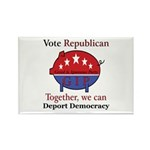 Republic Pig Rectangle Magnet (100 pack)