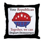 Republic Pig Throw Pillow