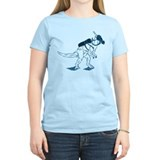 Dino Mask - blue T-Shirt